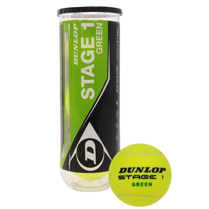Мячи для большого тенниса Dunlop Stage 1 (GREEN) 3B 602204