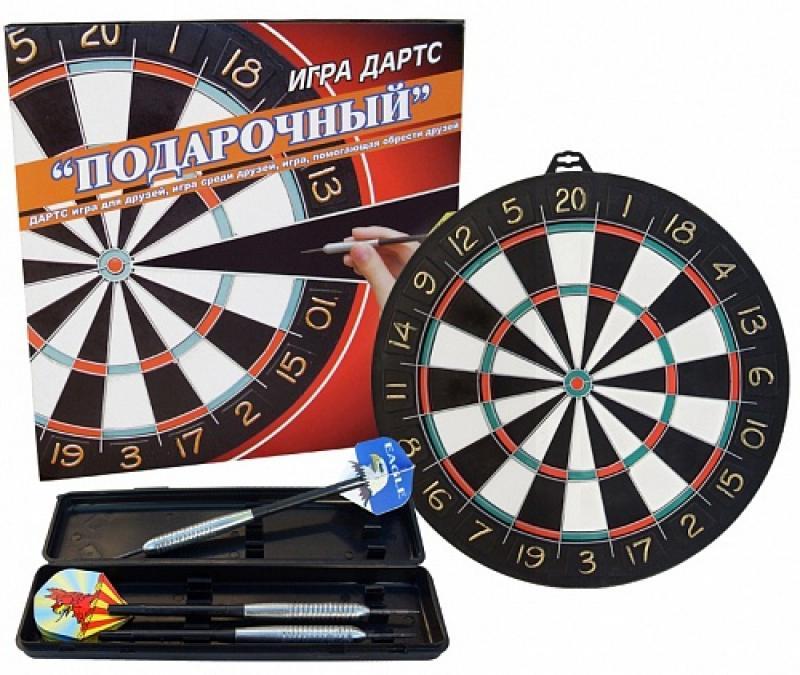Набор для игры в дартс Подарочный пенополиэтилен 47 см (мишень, 6 дротиков)