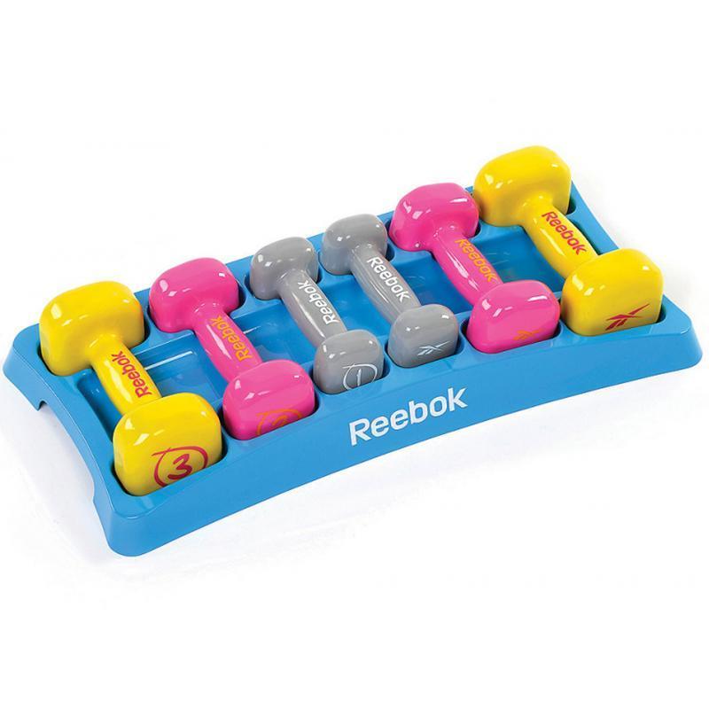 Набор виниловых гантелей Reebok 3 пары от 1 до 3 кг