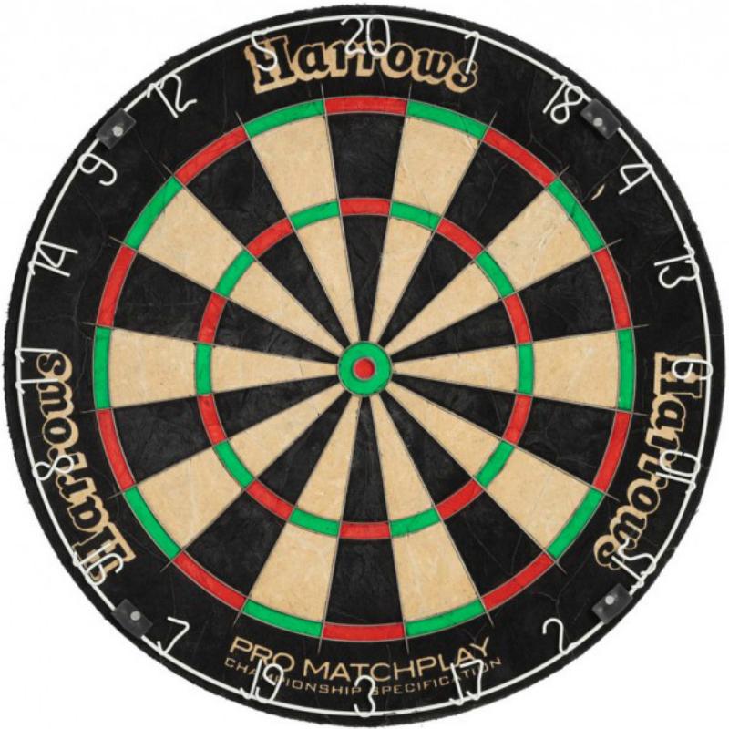 Мишень для игры в дартс профессиональная  HARROWS Pro MatchPlay сизаль 45 см