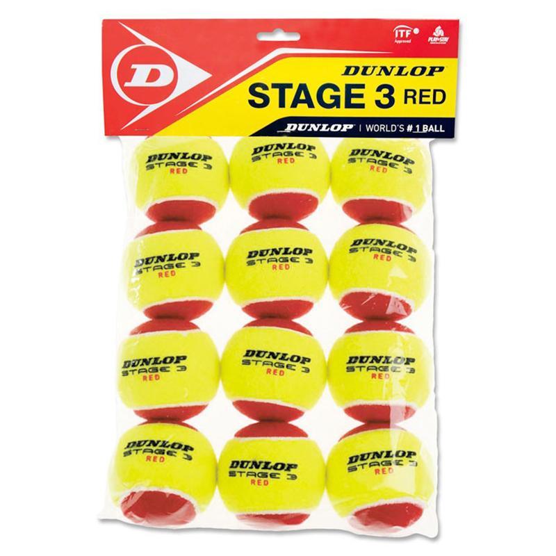 Мячи для большого тенниса Dunlop Stage 3 (RED) 12B 605054