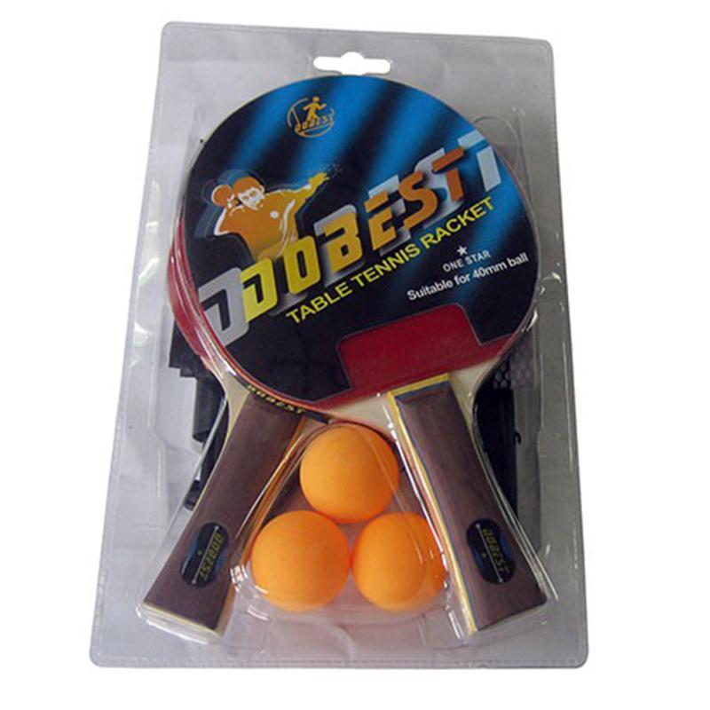 Набор для н/тенниса DOBEST BR18 1 звезда (2 ракетки + 3 мяча + сетка + крепеж)