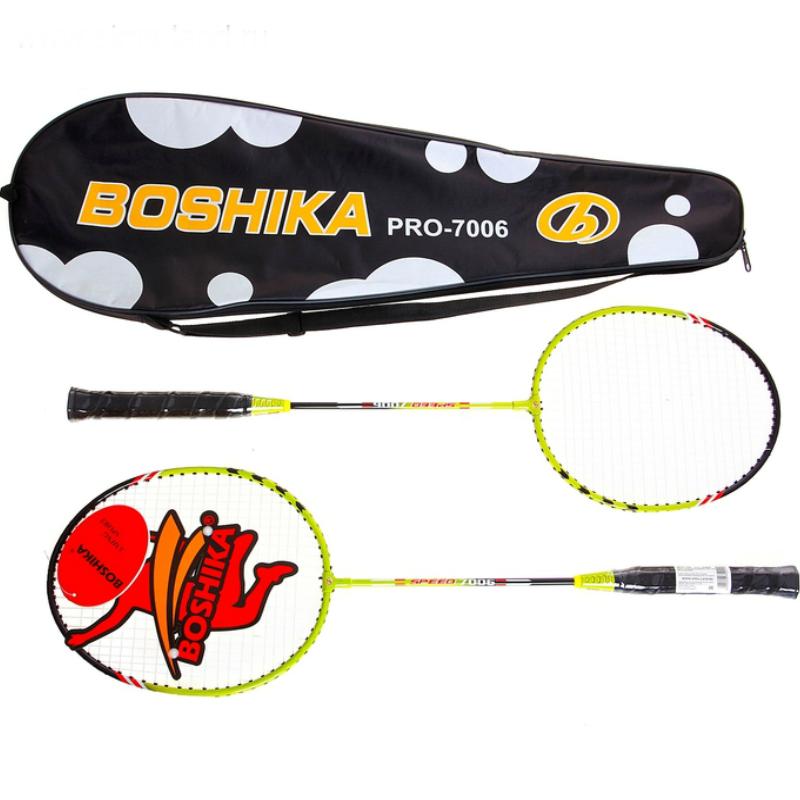 Набор для бадминтона BOSHIKA (2 ракетки, волан, чехол)
