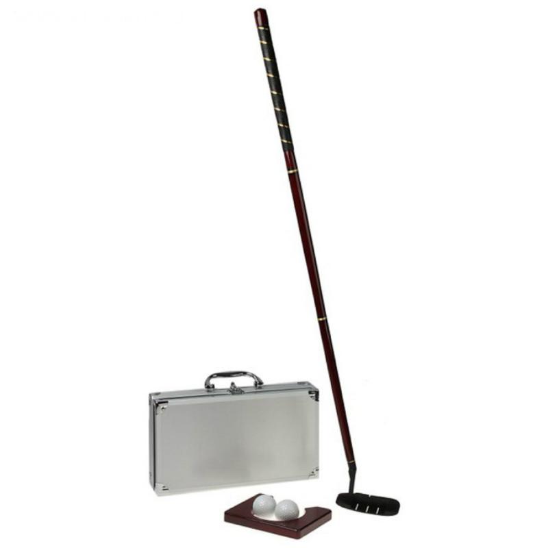 Набор для гольфа в металлическом кейсе SL (в комплекте: кейс, клюшка, лунка, 2 мячика)