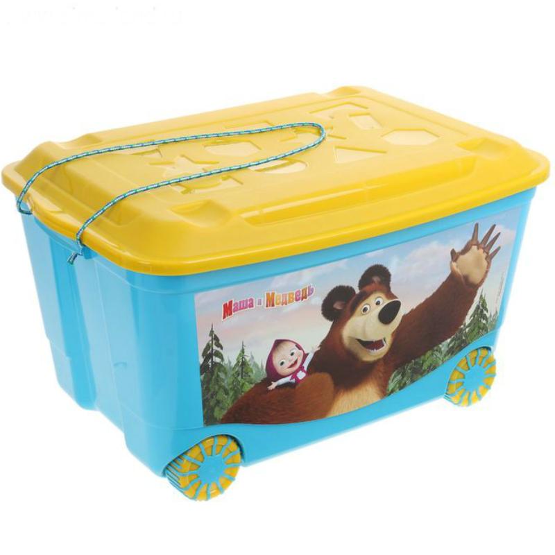 Ящик для игрушек на колёсах СЛ 58 х 39 х 33 см