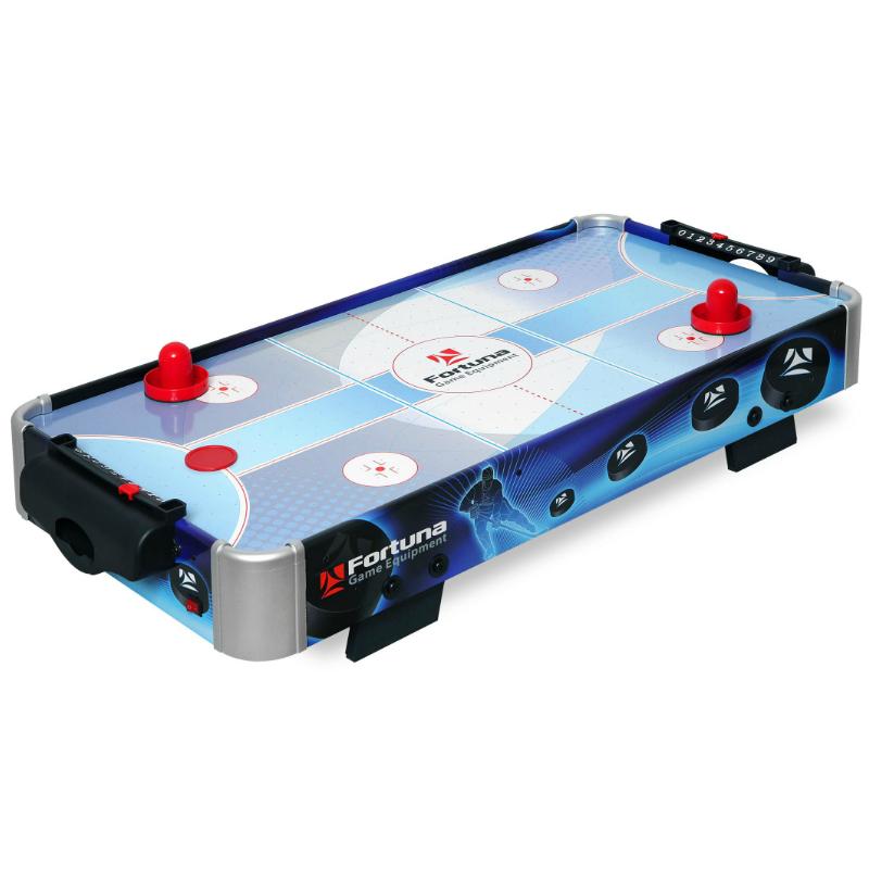 Настольный аэрохоккей Fortuna Blue Ice Power Play Hybrid (86 см х 43 см х 15 см)