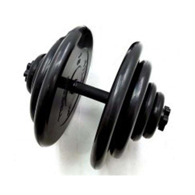 Гантель обрезиненная разборная АТЛЕТ 60 кг