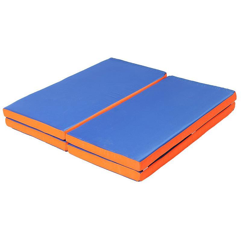 Мат гимнастический складной 200 х 100 х 8 см (цветной, чехол винил-кожа, наполнитель поролон)