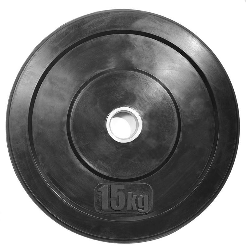 Диск черный для кроссфита (бампер) 15 кг диаметр 51 мм
