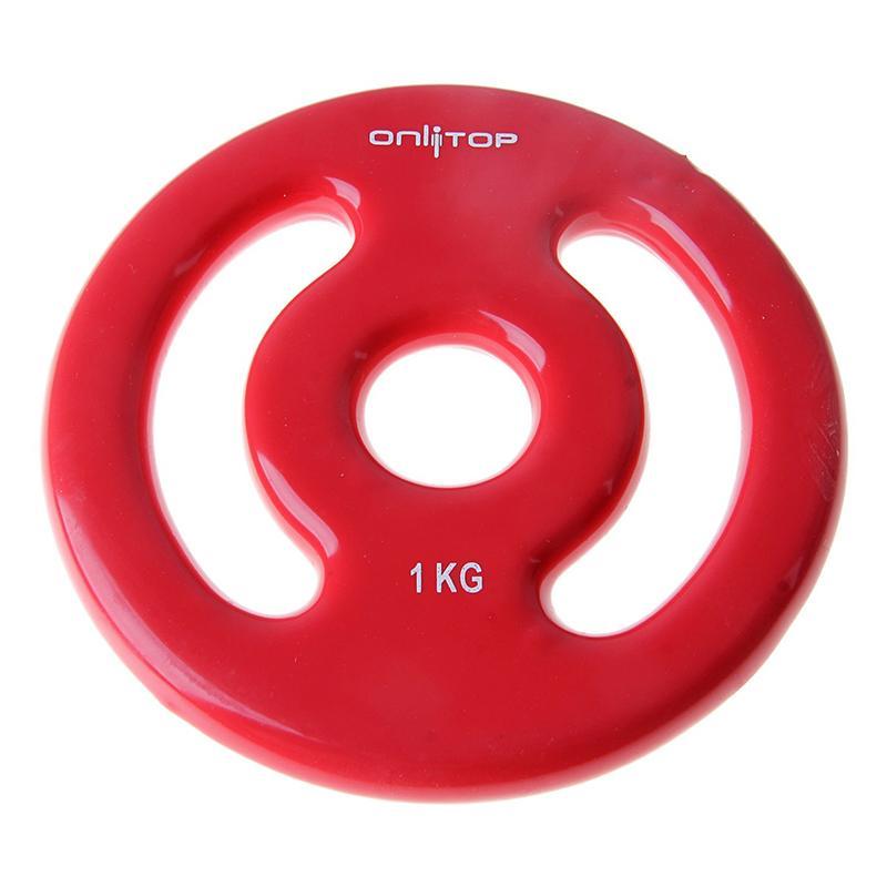 Диск виниловый цветной c двойным хватом ONLITOP 1 кг диаметр 30 мм
