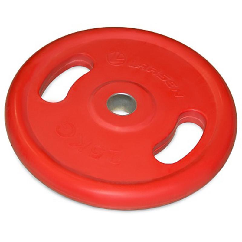 Диск обрезиненный с ручками NT121NС 25 кг красный диаметр 50 мм