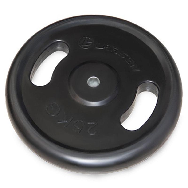 Диск обрезиненный с ручками NT121N 25 кг черный диаметр 26 мм, 31 мм, 50 мм