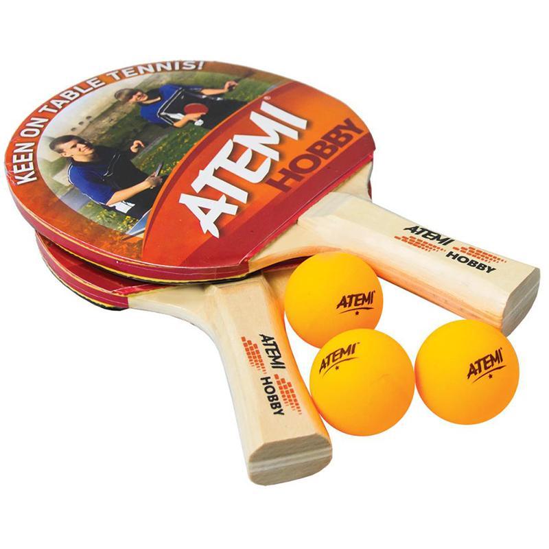 Набор для н/тенниса ATEMI Hobby (2 ракетки, 3 мяча)