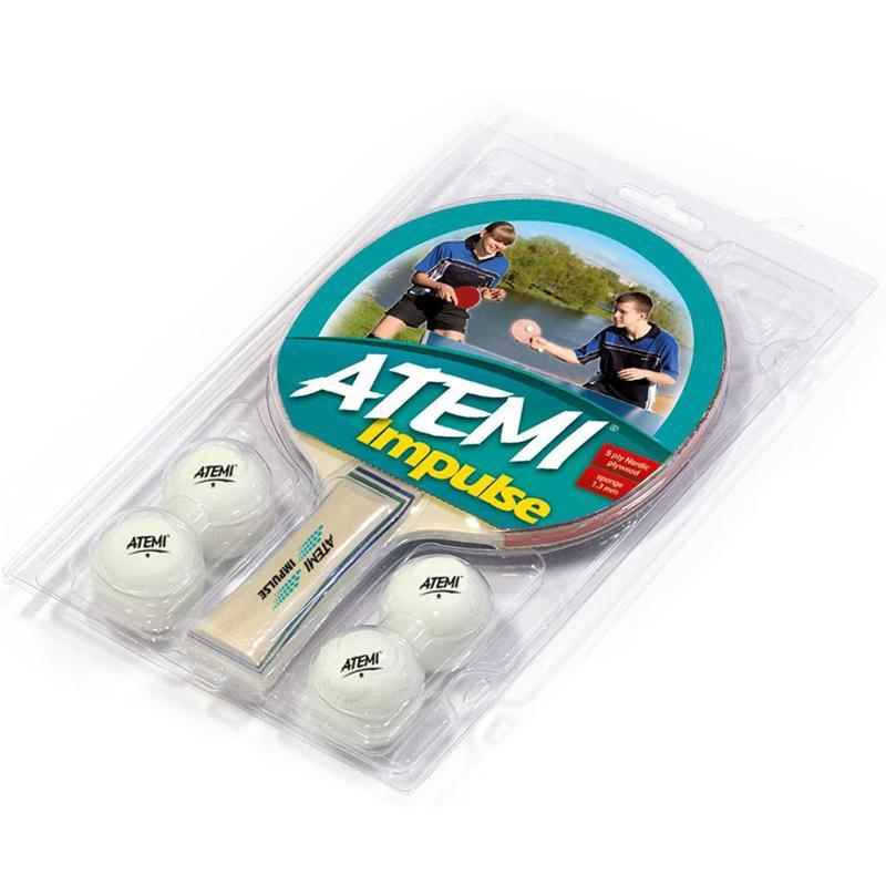 Набор для н/тенниса ATEMI Impulse (1 ракетка, 4 мяча)