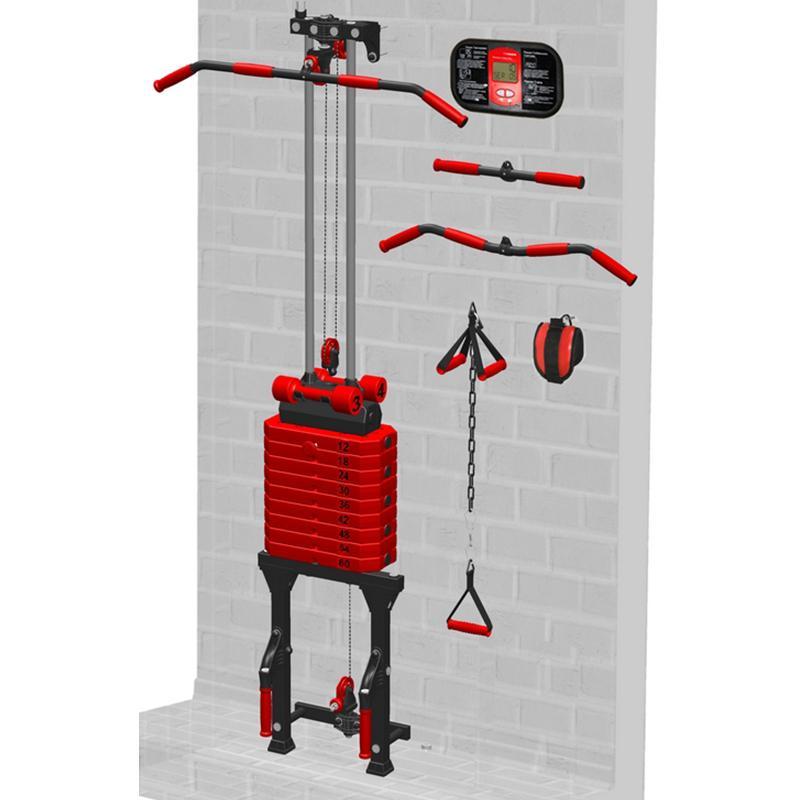 Блоковый тренажер пристенный с поворотными блоками LECO-IT Home гп044020
