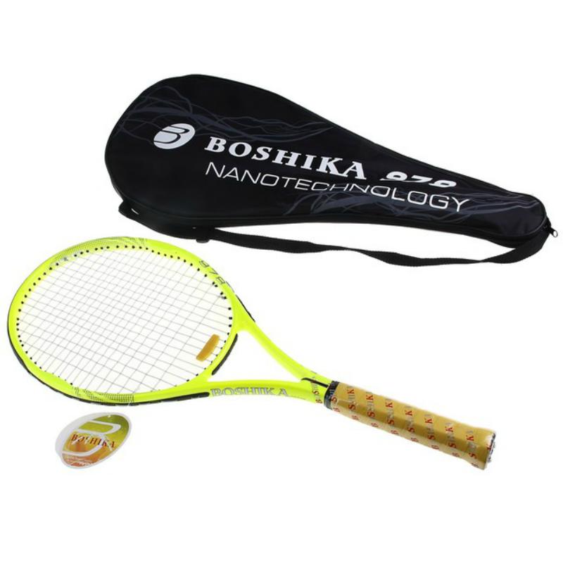 Ракетка для большого тенниса BOSHIKA 978 SL тренировочная, alumin 344гр в чехле