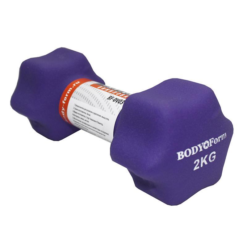 Гантель виниловая BODY FORM BF-DV03 1 кг