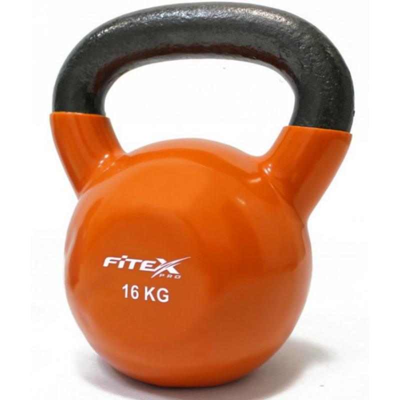 Гиря в виниловой оболочке FITEX PRO FTX2201-16 16 кг