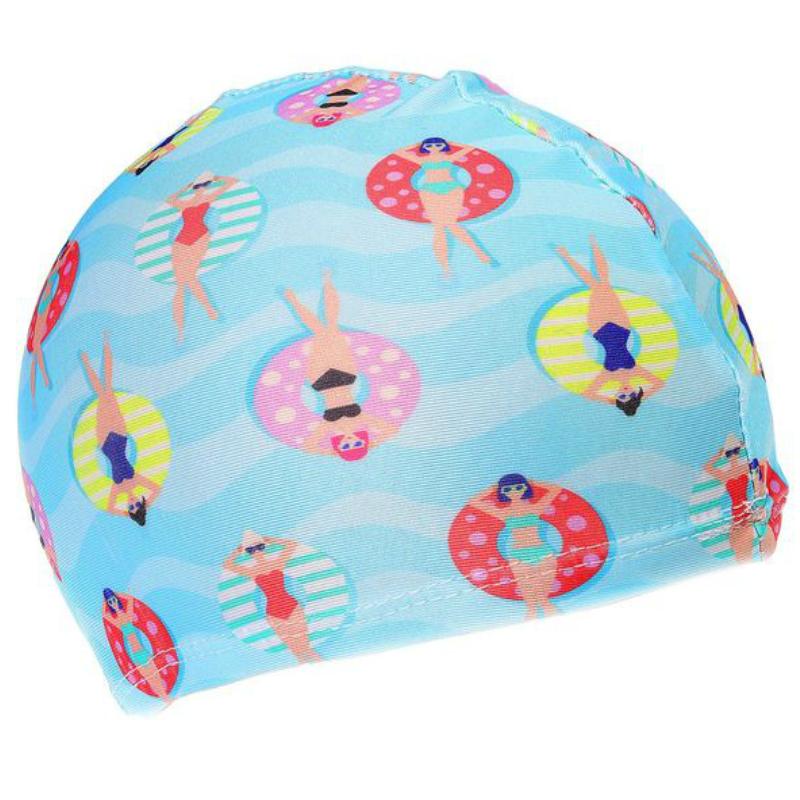 Шапочка для плавания с рисунком подростковая текстиль Onlitop