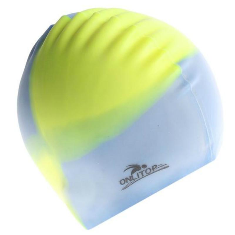 Шапочка для бассейна силиконовая многоцветная Onlitop