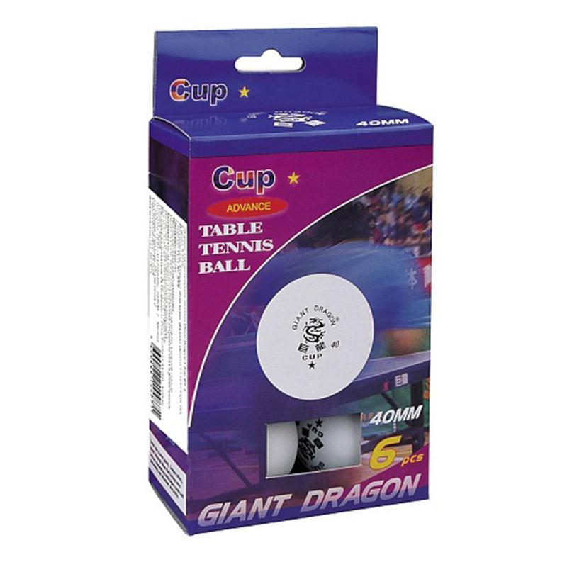 Шарики для настольного тенниса GIANT DRAGON 1 Star B6-1 (6 шт.)