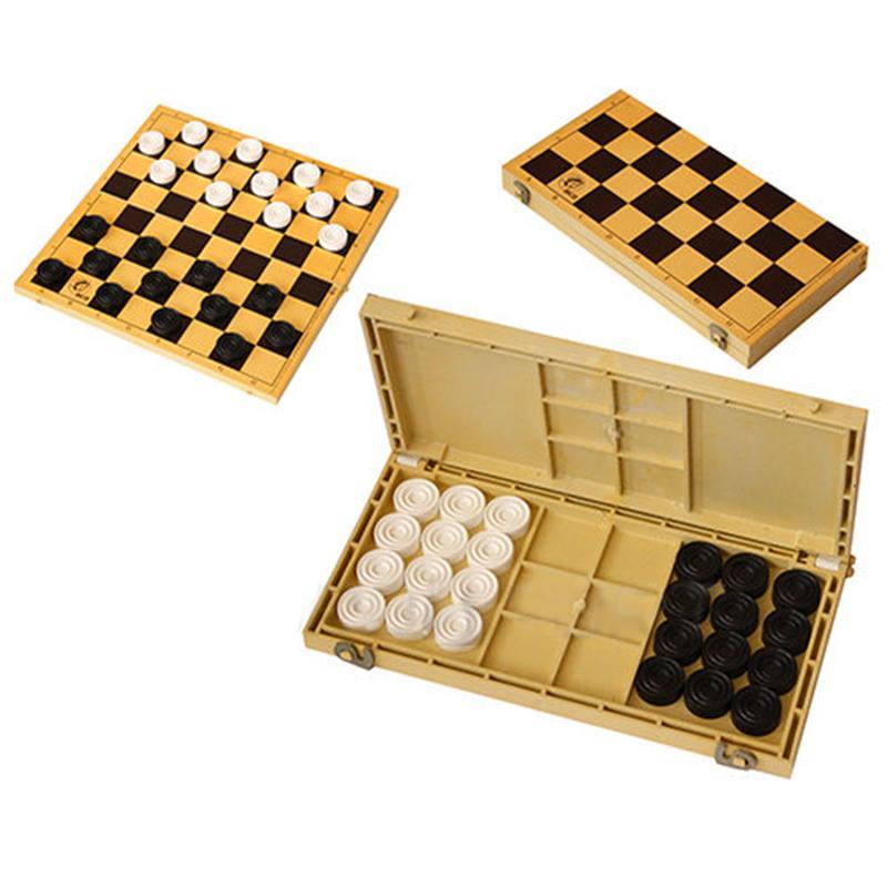 Шашки с шахматной доской ES (30 x 30 x 1,5 см)