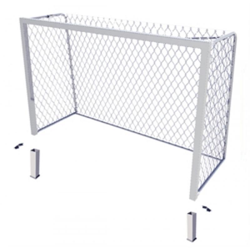 Алюминиевые ворота SPORTWERK для мини-футбола и гандбола стационарные 3х2х1 м по ГОСТу Р 55665-2013