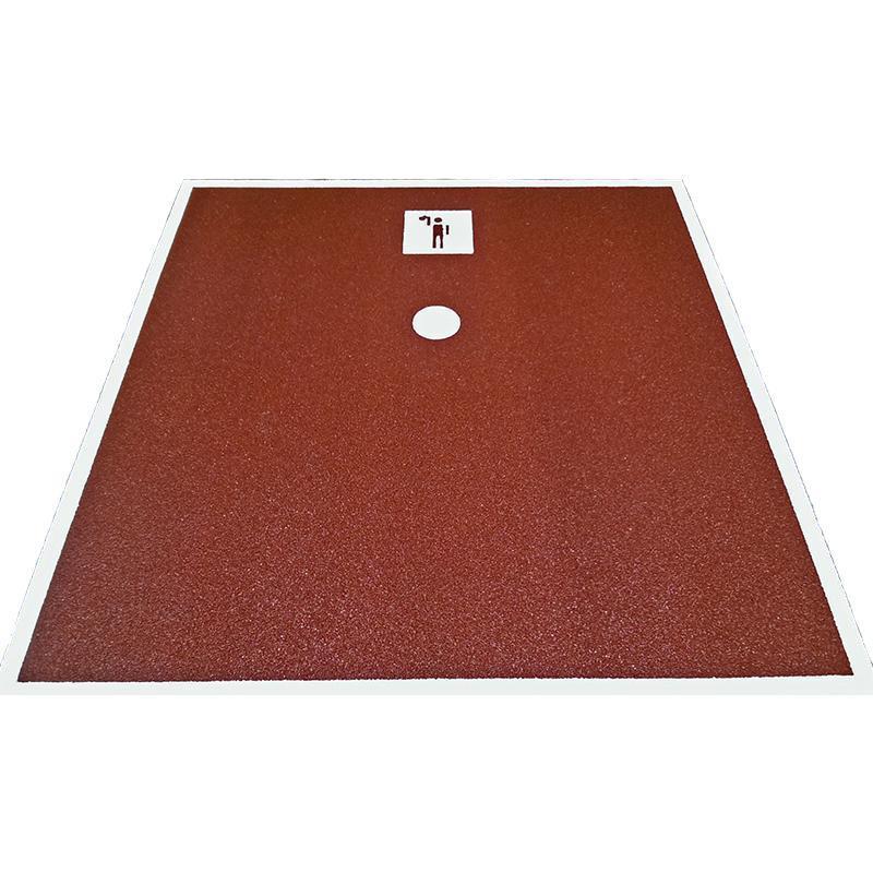 Площадка для подъема гири АТ и выполнения спортивного норматива ГТО Рывок гири (2000x2000x15 мм)