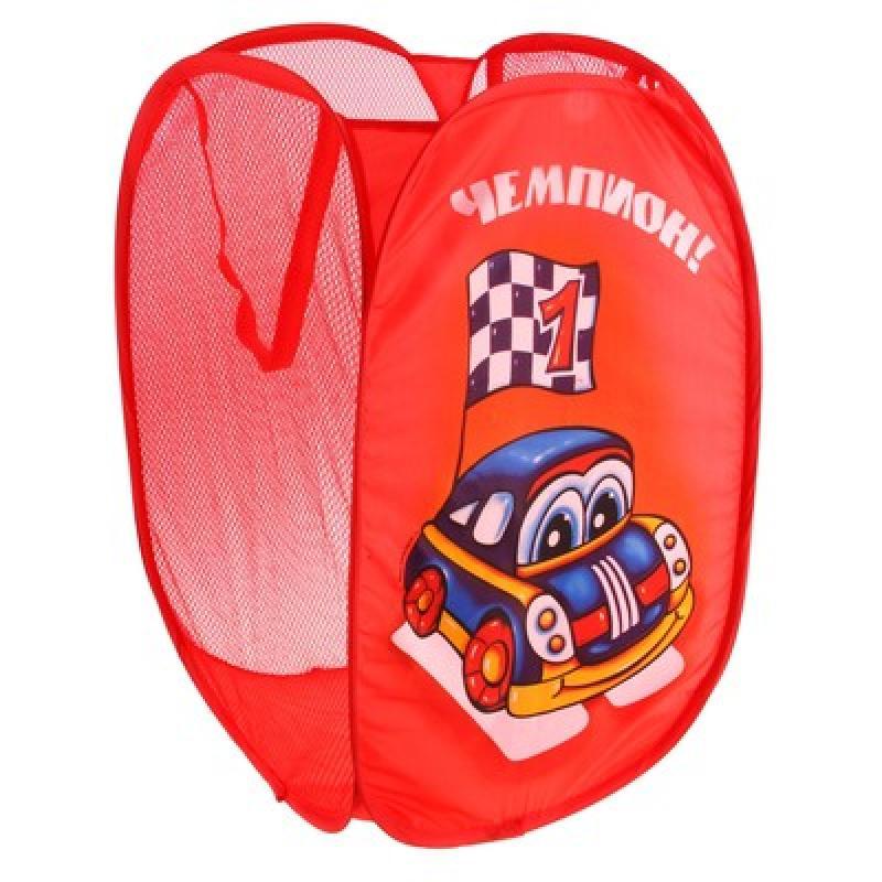 Корзина для игрушек SL Чемпион с ручками, 35x35x55 см