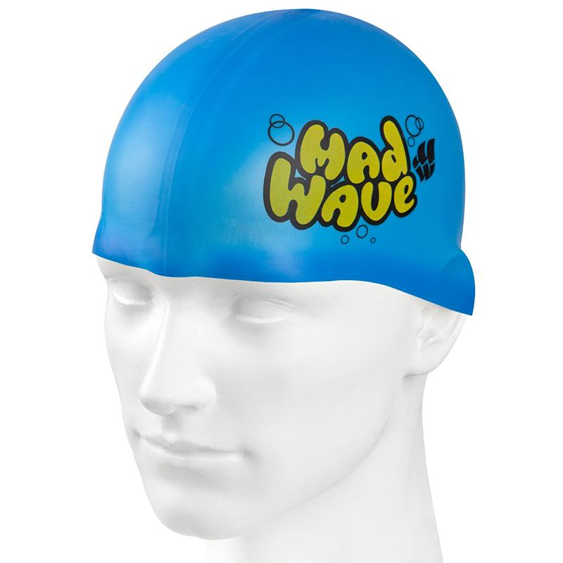 Шапочка для плавания MAD WAVE Silicone Junior Solid