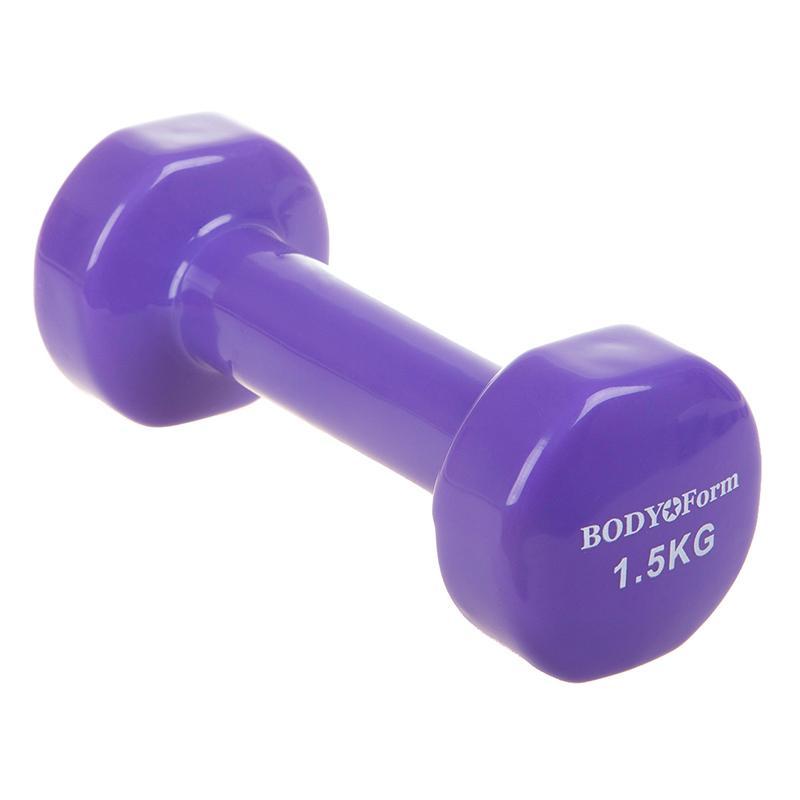 Гантель виниловая BODY FORM BF-DV01 1,5 кг