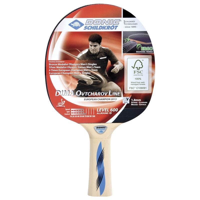 Ракетка для настольного тенниса DONIC Schidkroet Ovtcharov 600 FSC