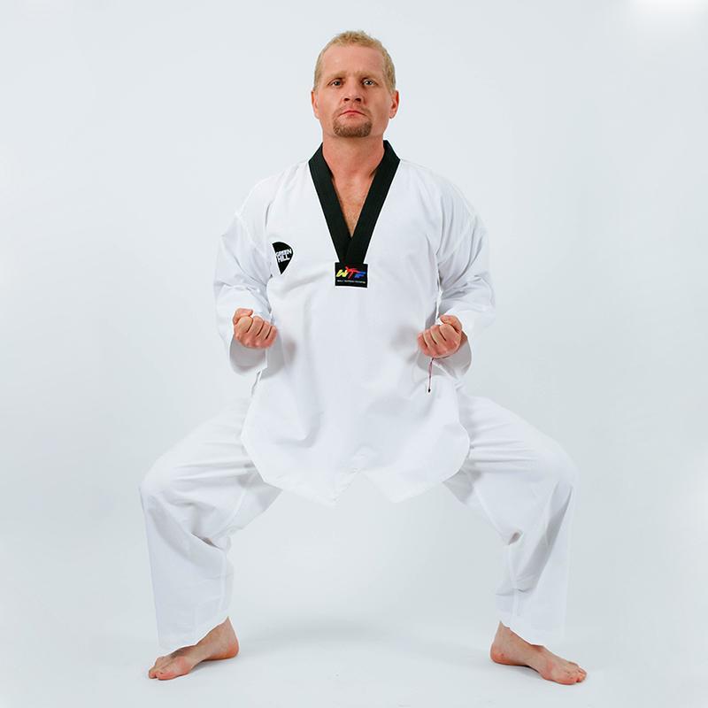 Кимоно Taekwondo WTF GREEN HILL New China ultralight fabric T-M022, без пояса