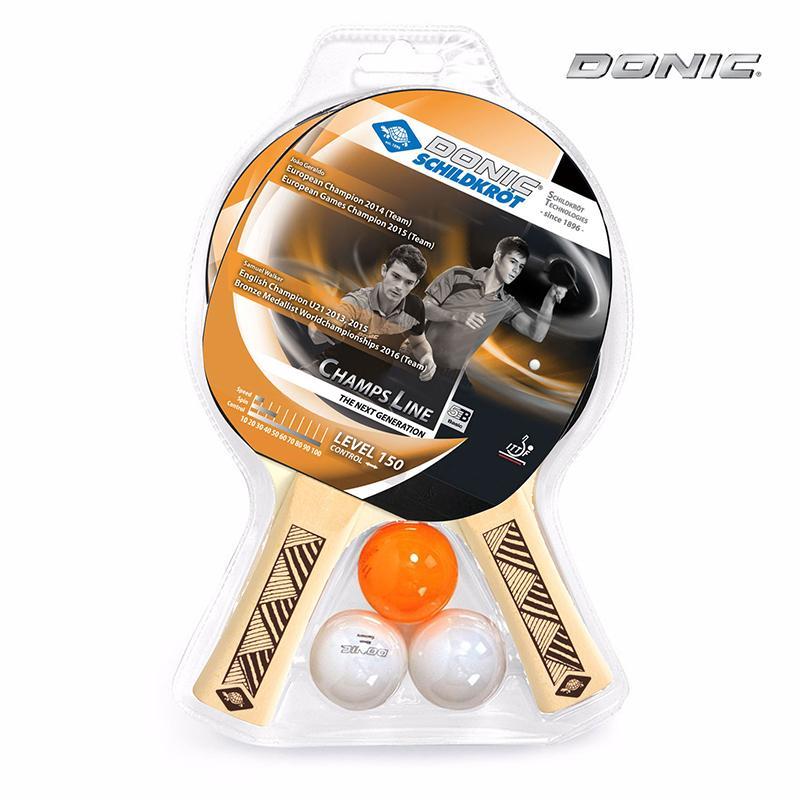 Набор для настольного тенниса DONIC CHAMPS 150 (2 ракетки, 3 мяча)