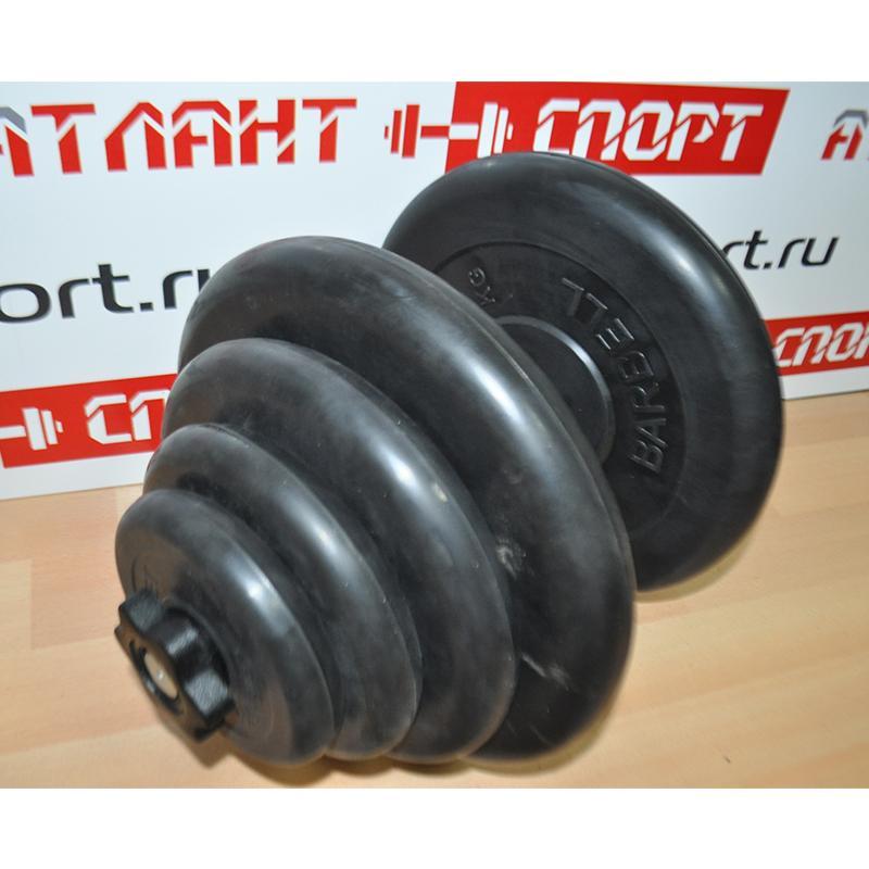 Гантель обрезиненная разборная АТЛЕТ 40 кг