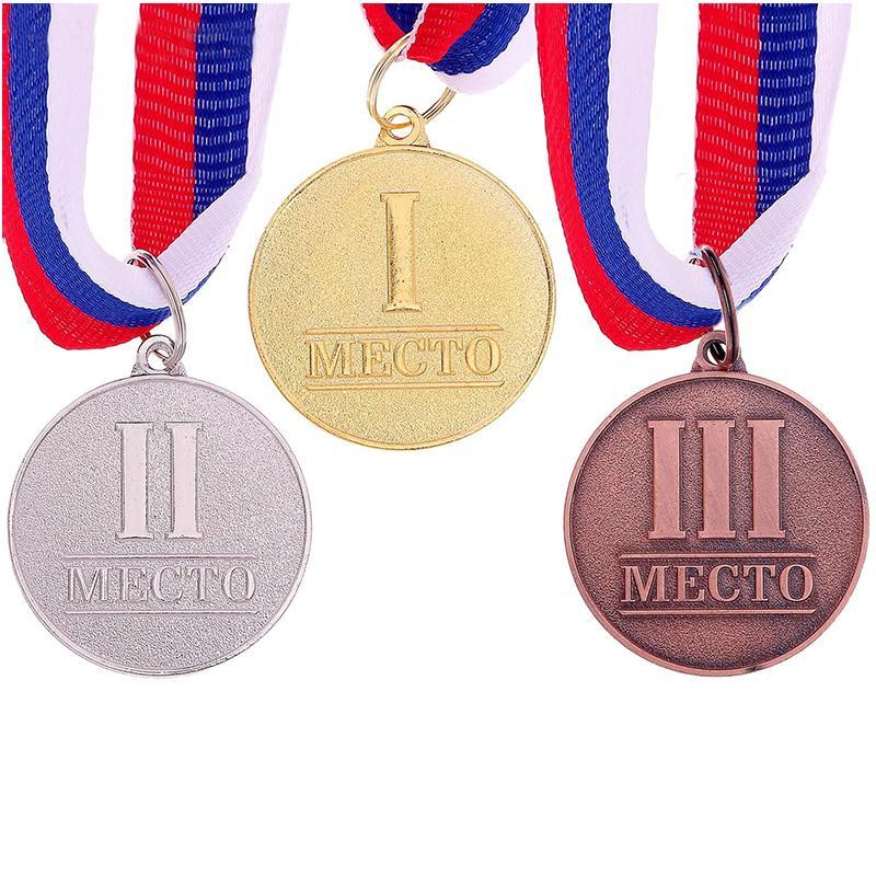 Медаль 3,5 см SL 066 призовая (с лентой)