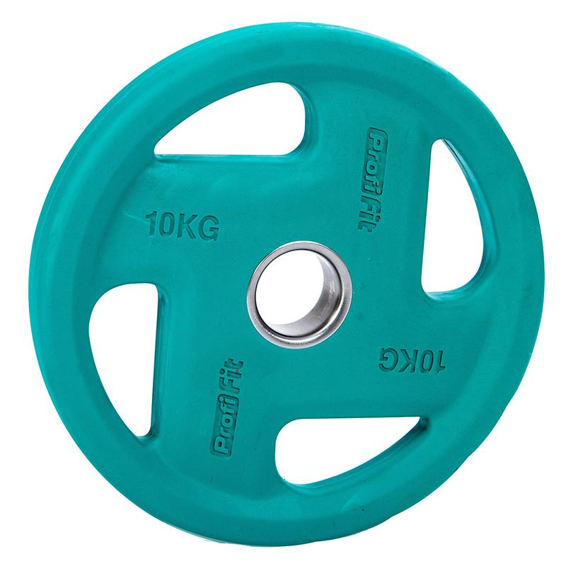 Диск обрезиненный цветной PROFI-FIT Fassion 10 кг диаметр 51 мм