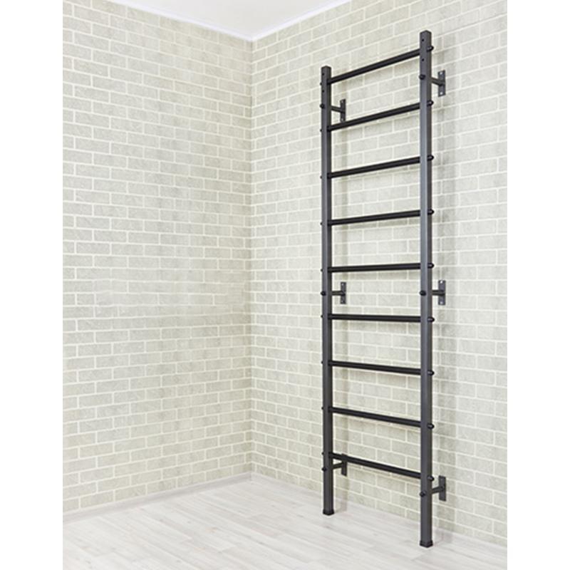 Шведская стенка металлическая 240 х 71 см высокопрочная с усиленными ПВХ ступенями (крепление к стене)