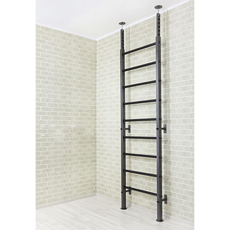 Шведская стенка металлическая 240 х 71 см высокопрочная с усиленными ПВХ ступенями (крепление враспор)