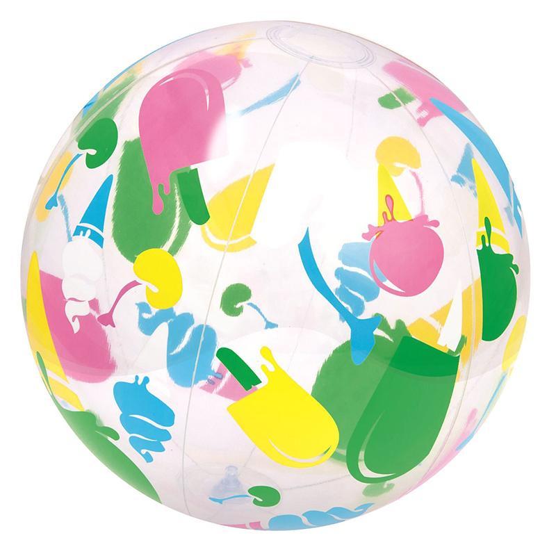 Мяч надувной прозрачный BESTWAY 31000 Краски 41 см