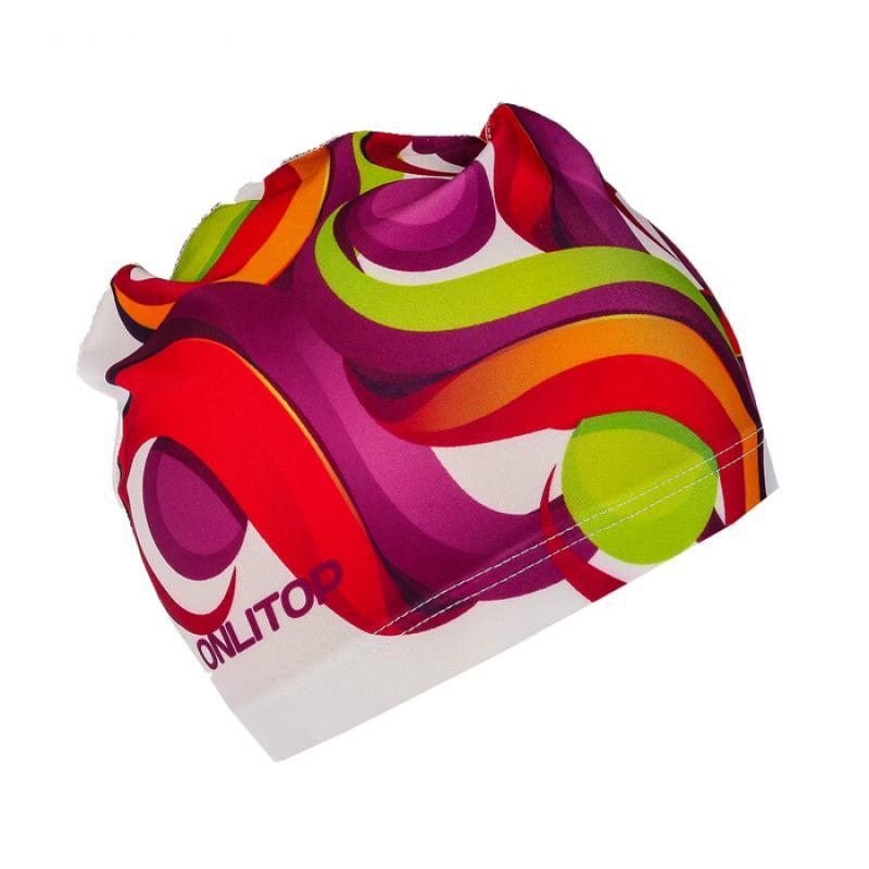 Шапочка для плавания, взрослая SL OL-026, текстиль