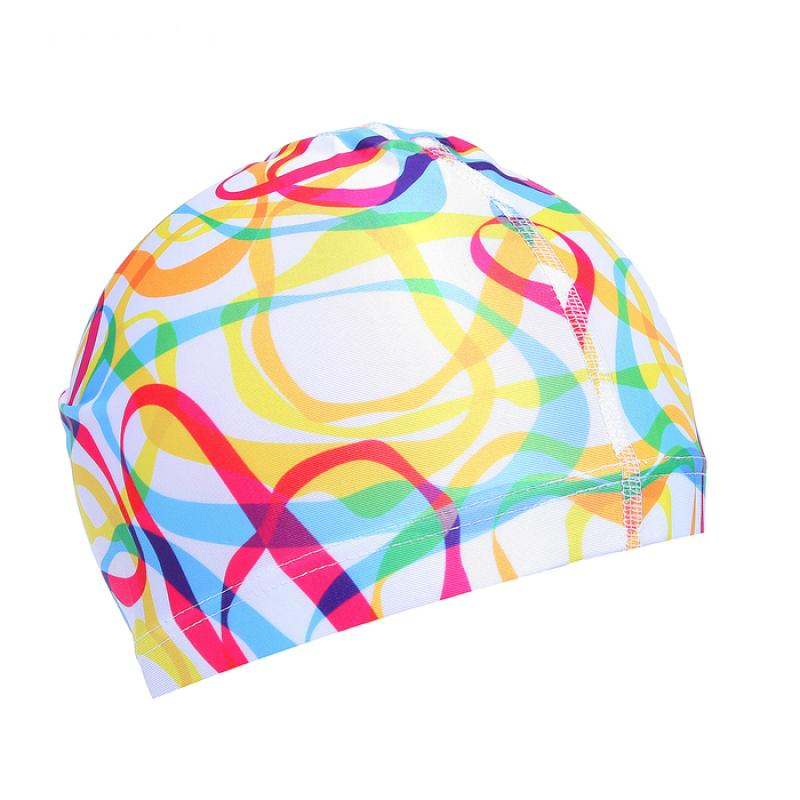 Шапочка для плавания, взрослая SL OL-027, текстиль
