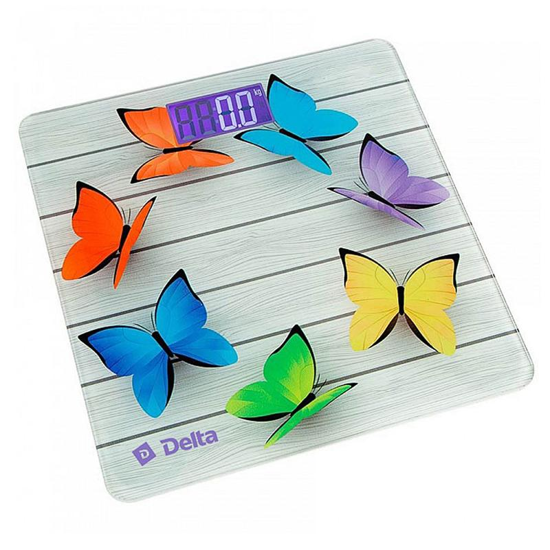 Весы напольные электронные SL DELTA D-9218 Радужные бабочки до 150 кг