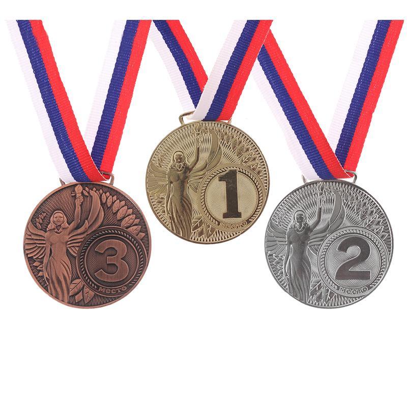 Медаль 4,5 см SL Ника (с лентой)