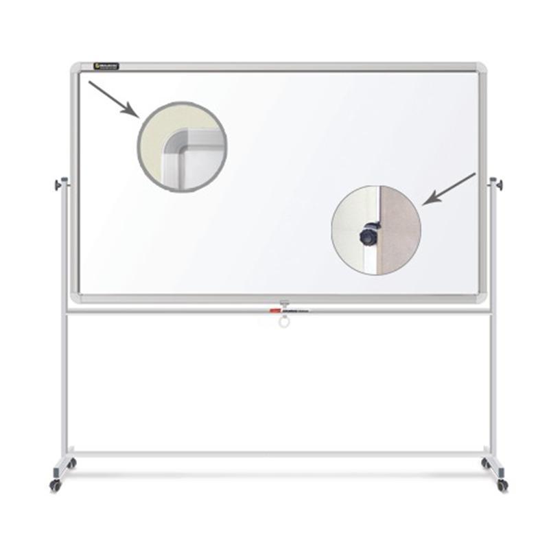 Доска магнитно-маркерная СМ 231718 BRAUBERG 2-сторонняя, на стенде, улучшенная алюминиевая рамка 90х120 см