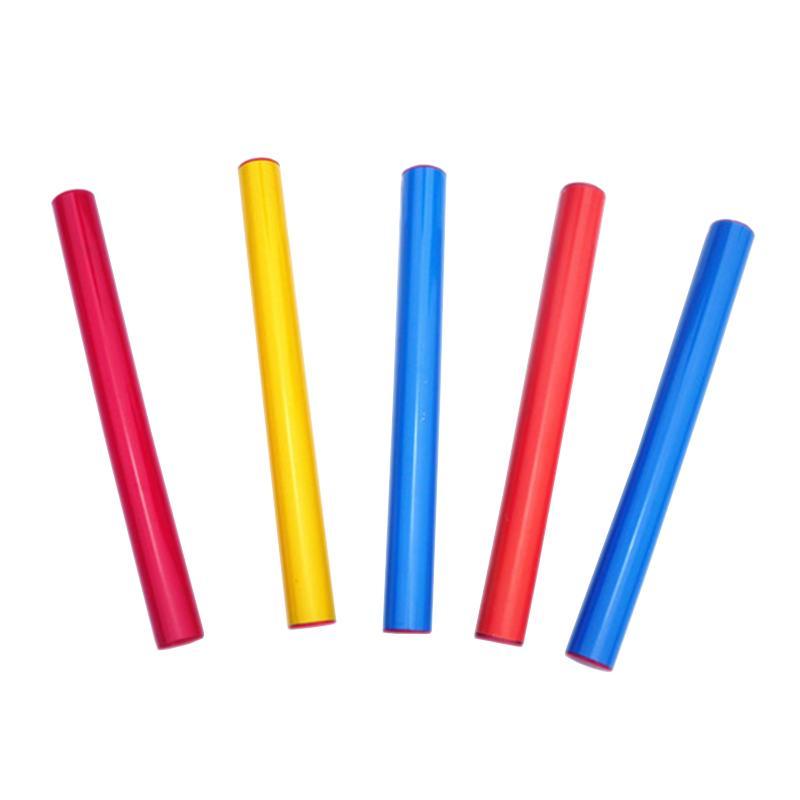 Набор детских разноцветных пластиковых эстафетных палочек длиной 30 см (комплект 5 шт.)