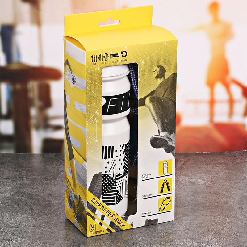 Набор SL (скакалка, бутылка для воды 900 мл, эспандер)