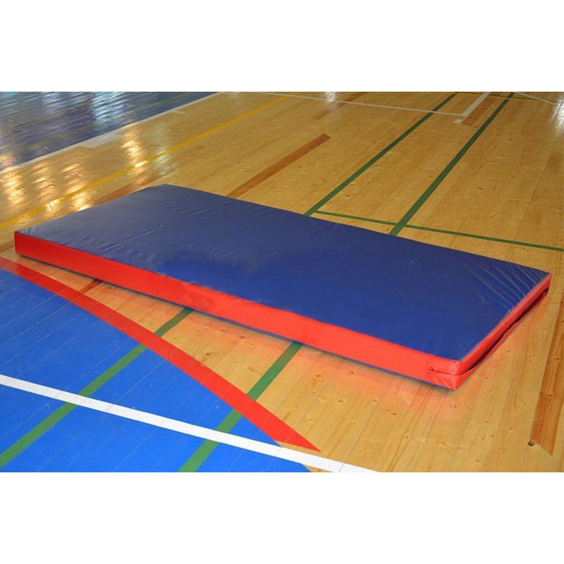 Мат двухцветный с ручками АТЛАНТ 200 х 100 х 10 см (винилискожа, поролон 18 кг/м3)
