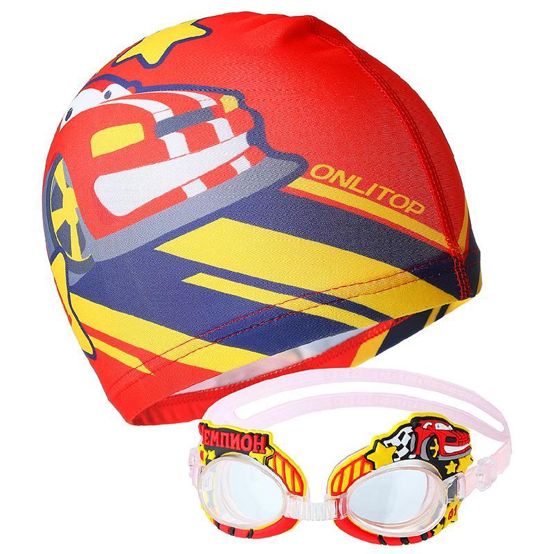 Набор для плавания ONLITOP (очки, шапочка)
