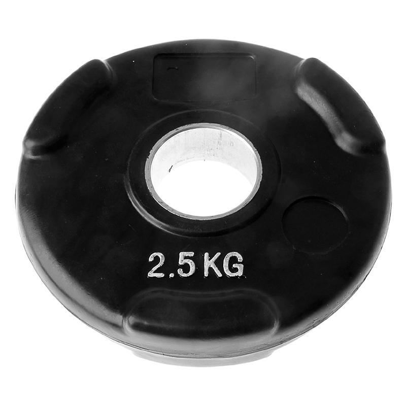 Диск обрезиненный черный с тройным хватом ONLITOP 2,5 кг диаметр 50 мм
